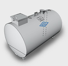Single Wall Double Bottom Steel Utility Tanks